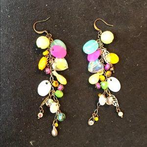 Sorelli Multi-Colored Dangle Earrings
